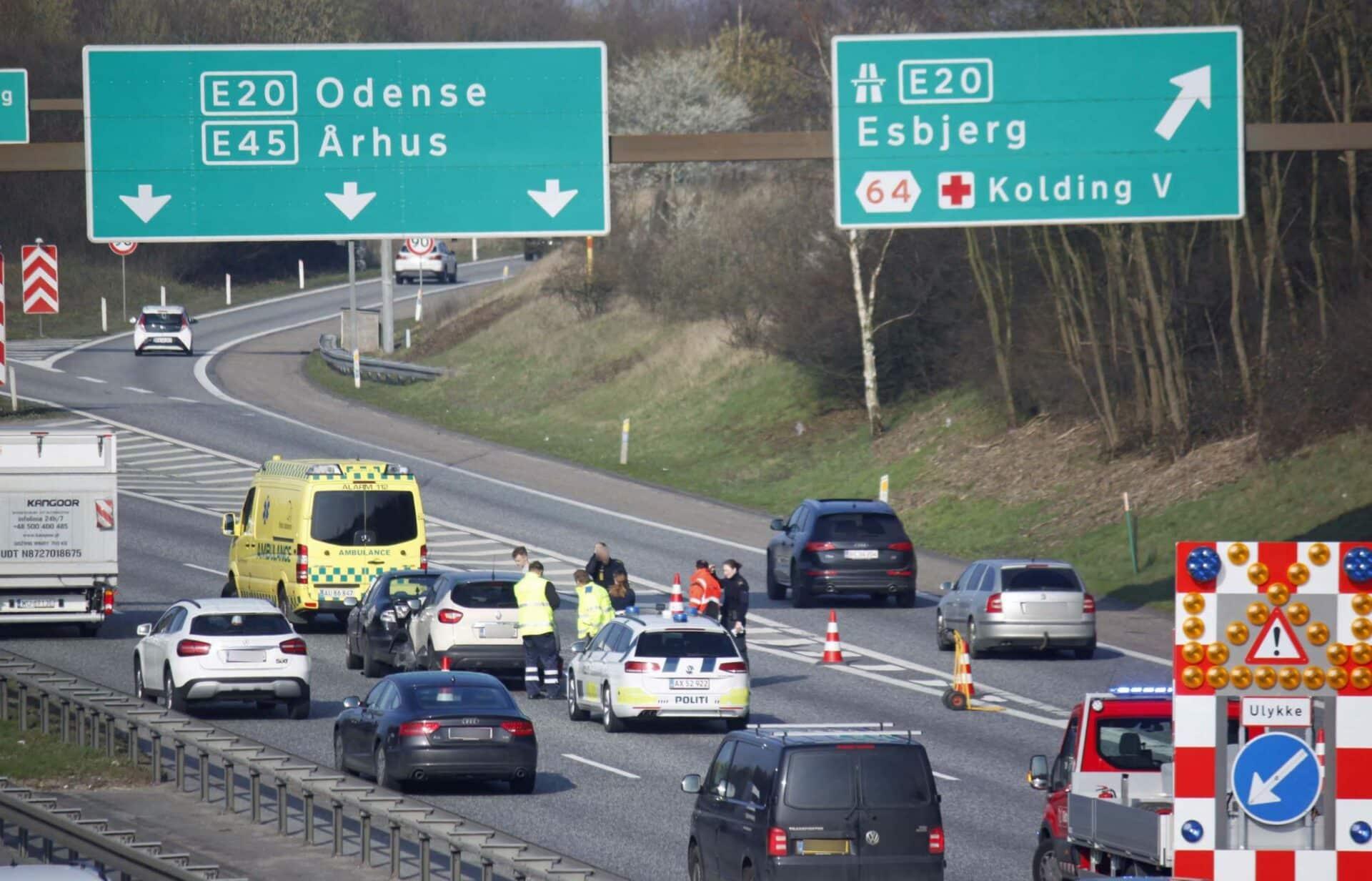 290319 Uheld E45 Kolding V 01 foto Elo Christoffersen