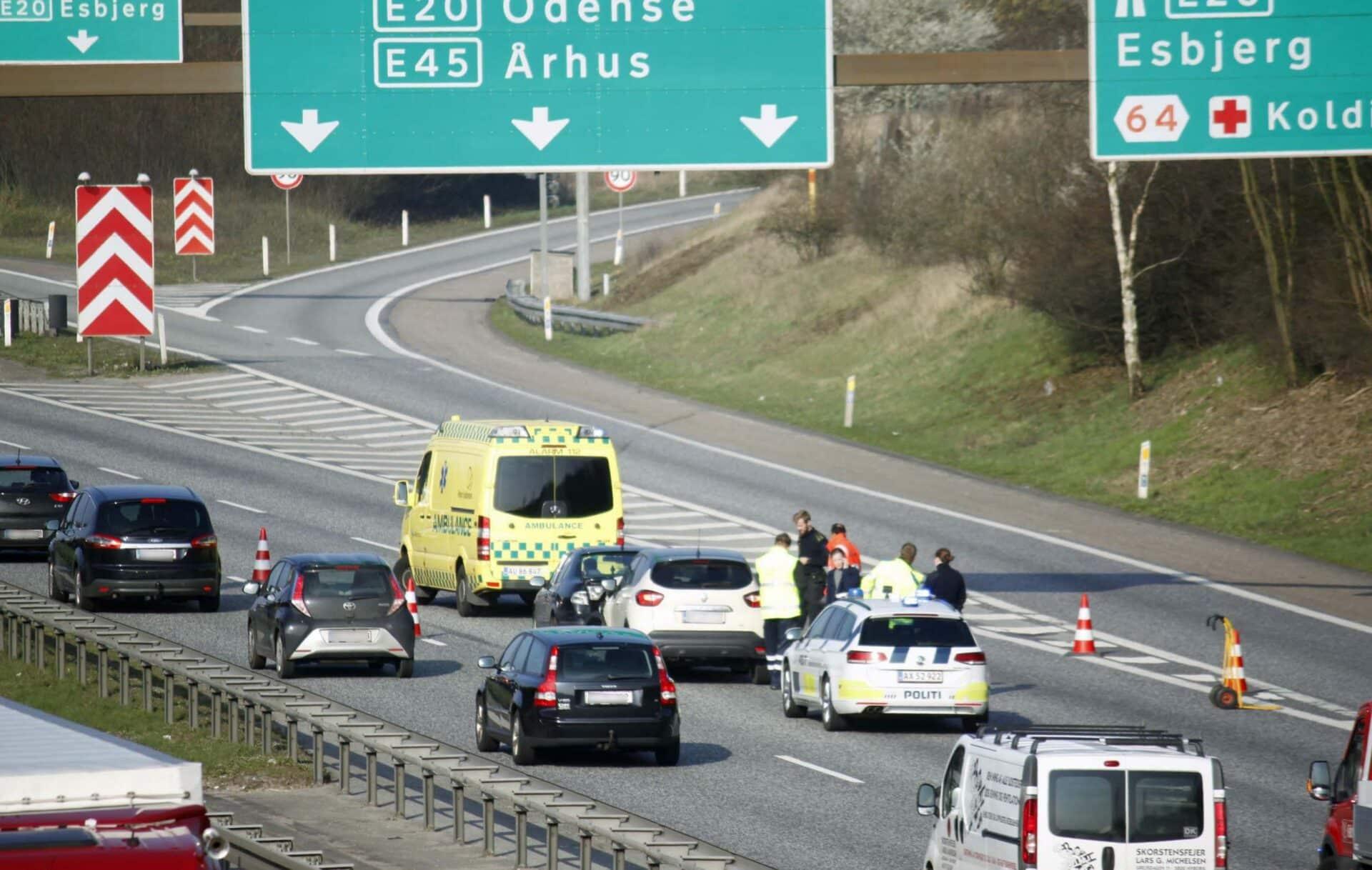 290319 Uheld E45 Kolding V 02 foto Elo Christoffersen