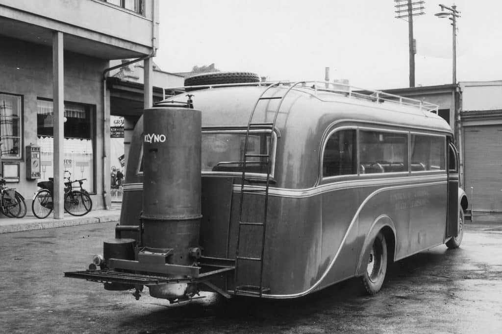 Rutebil med generator